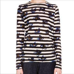 Proenza Schouler | Floral Striped Tissue Tee Shirt